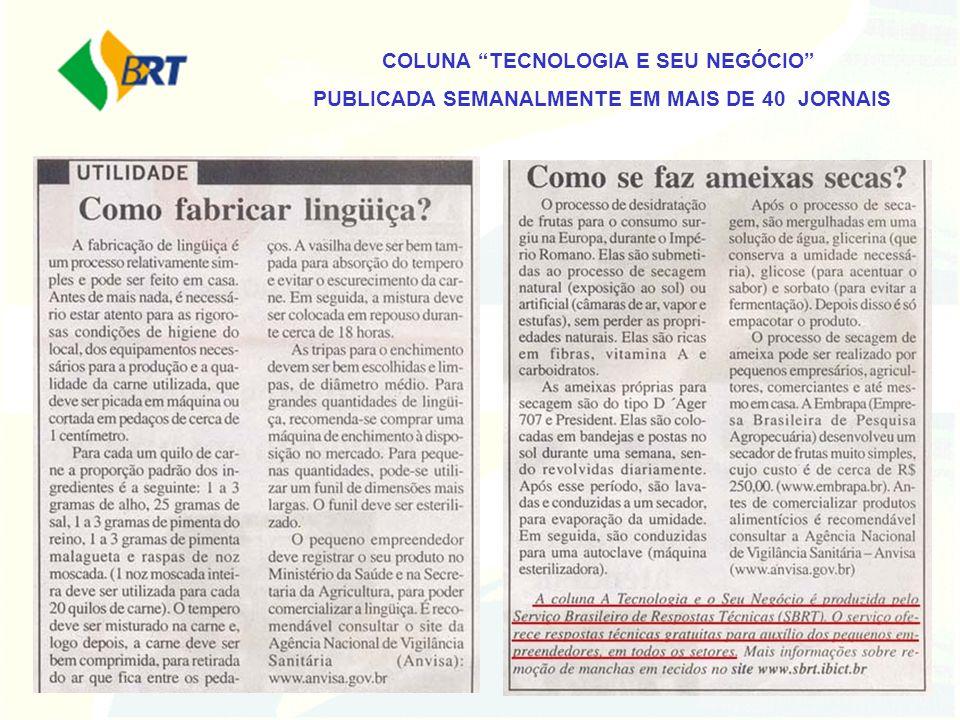 COLUNA TECNOLOGIA E SEU NEGÓCIO