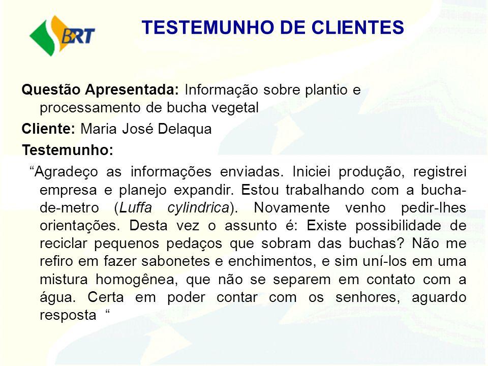 TESTEMUNHO DE CLIENTES