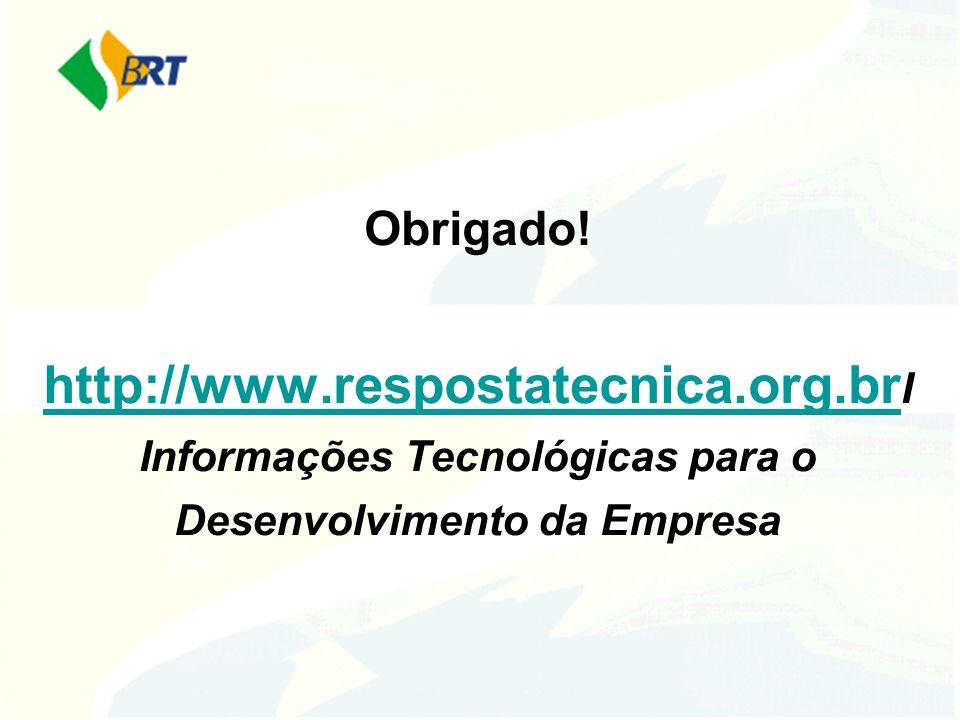 Obrigado. http://www. respostatecnica. org