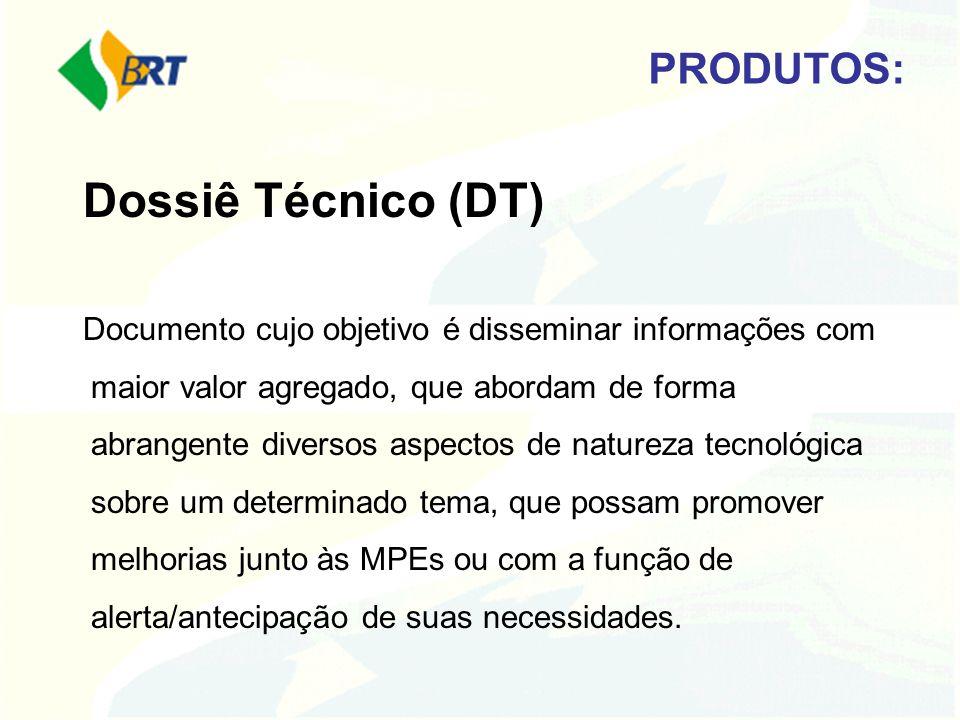 Dossiê Técnico (DT) PRODUTOS: