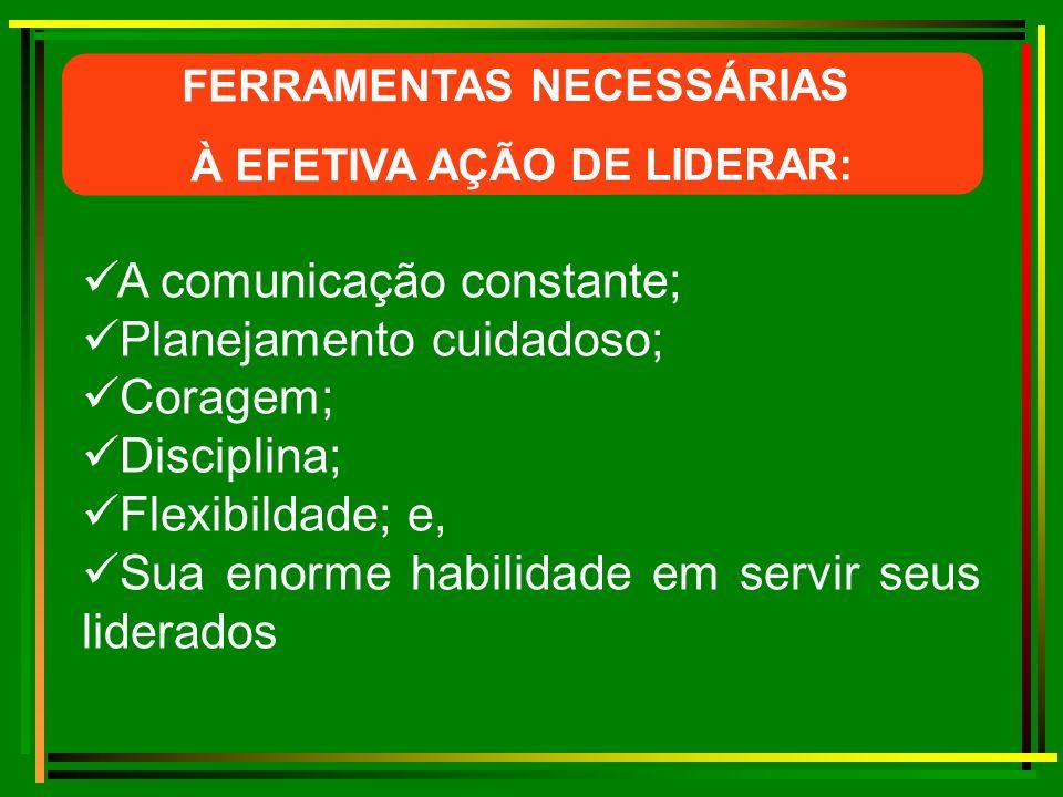 FERRAMENTAS NECESSÁRIAS À EFETIVA AÇÃO DE LIDERAR:
