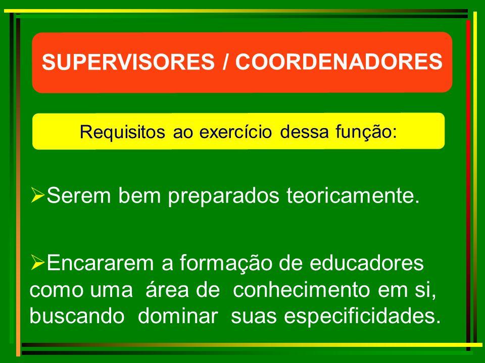 SUPERVISORES / COORDENADORES