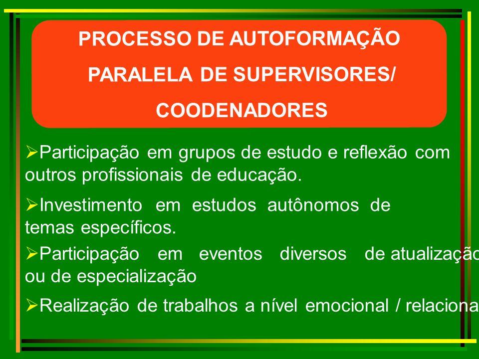 PROCESSO DE AUTOFORMAÇÃO PARALELA DE SUPERVISORES/