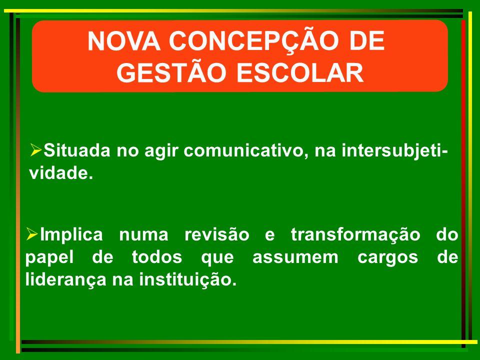 NOVA CONCEPÇÃO DE GESTÃO ESCOLAR