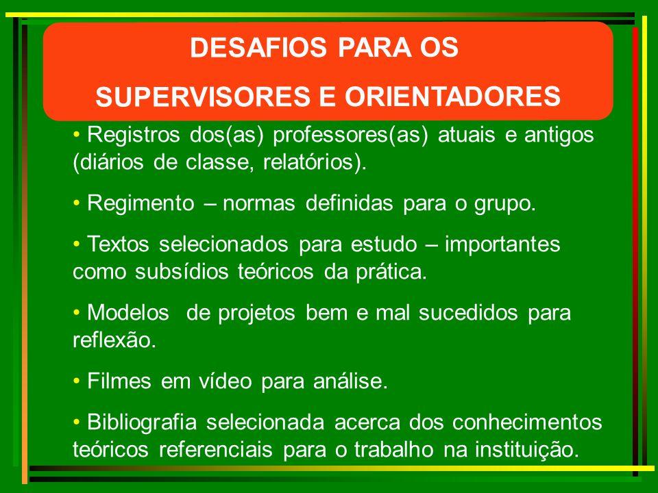 SUPERVISORES E ORIENTADORES