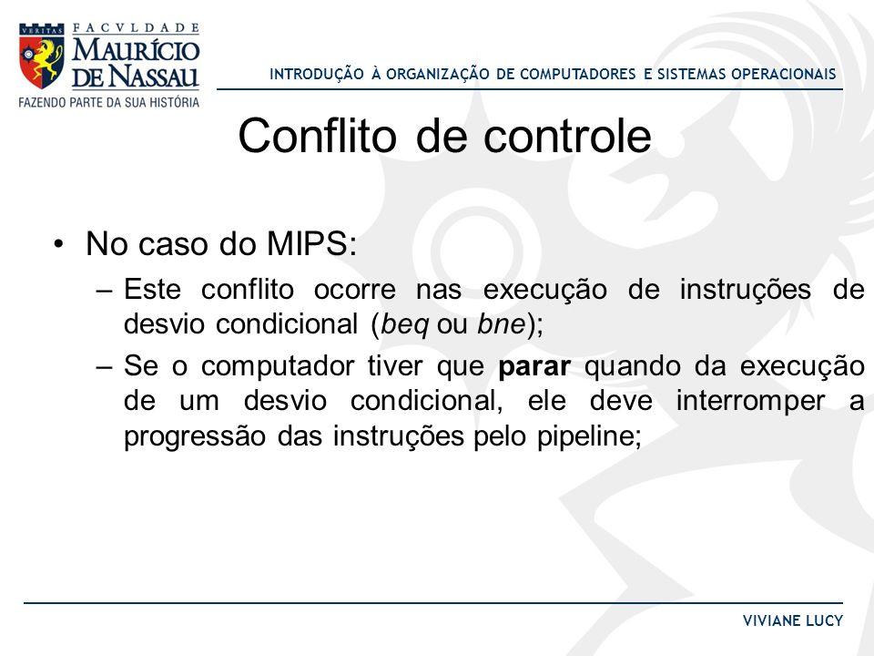 Conflito de controle No caso do MIPS: