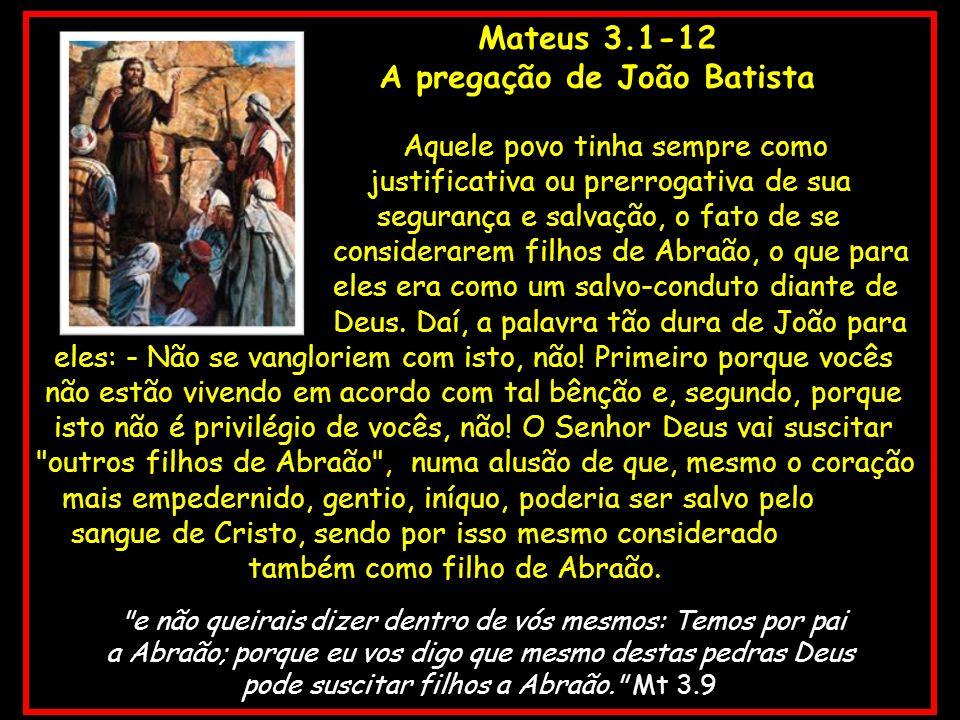 A pregação de João Batista
