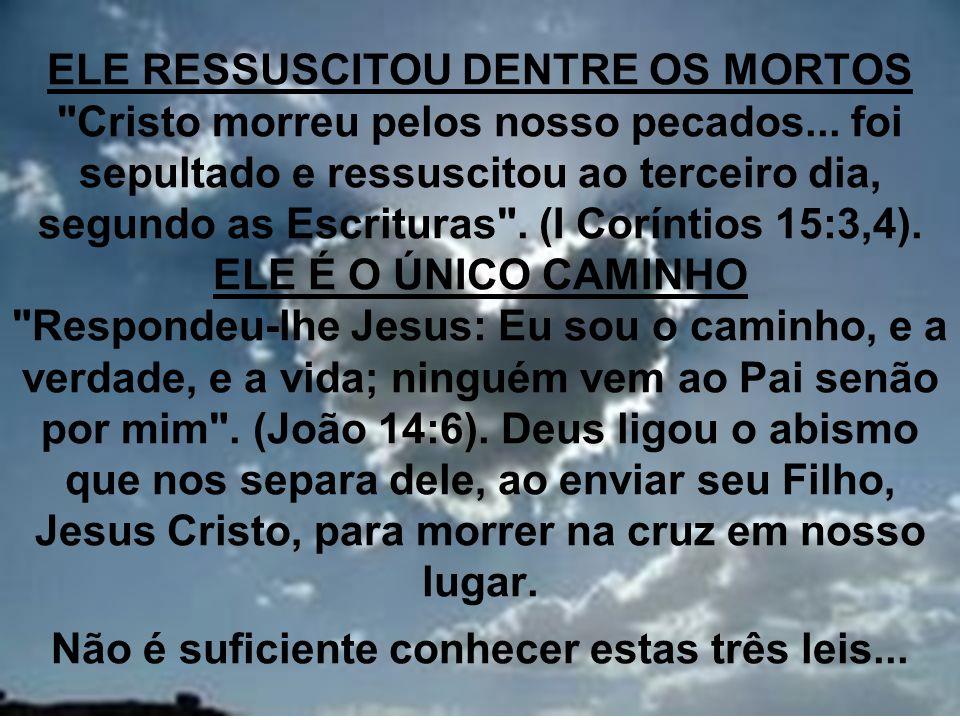 ELE RESSUSCITOU DENTRE OS MORTOS Cristo morreu pelos nosso pecados