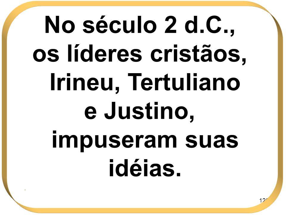 os líderes cristãos, Irineu, Tertuliano