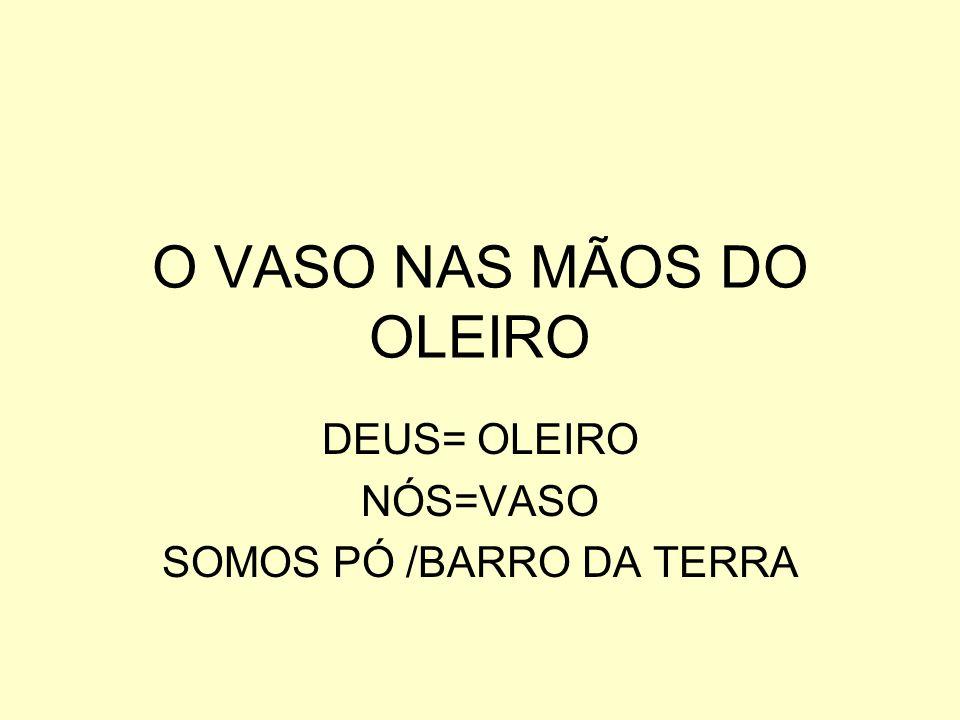 O VASO NAS MÃOS DO OLEIRO