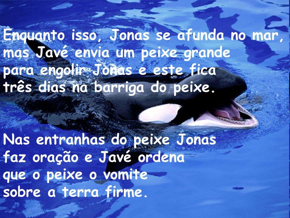Enquanto isso, Jonas se afunda no mar,