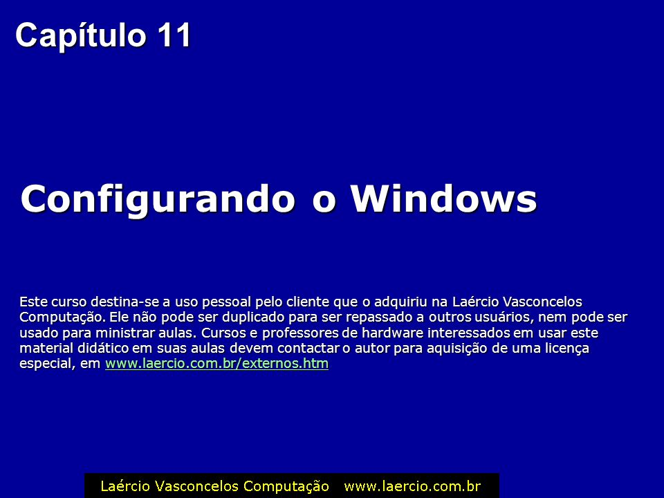 Configurando o Windows