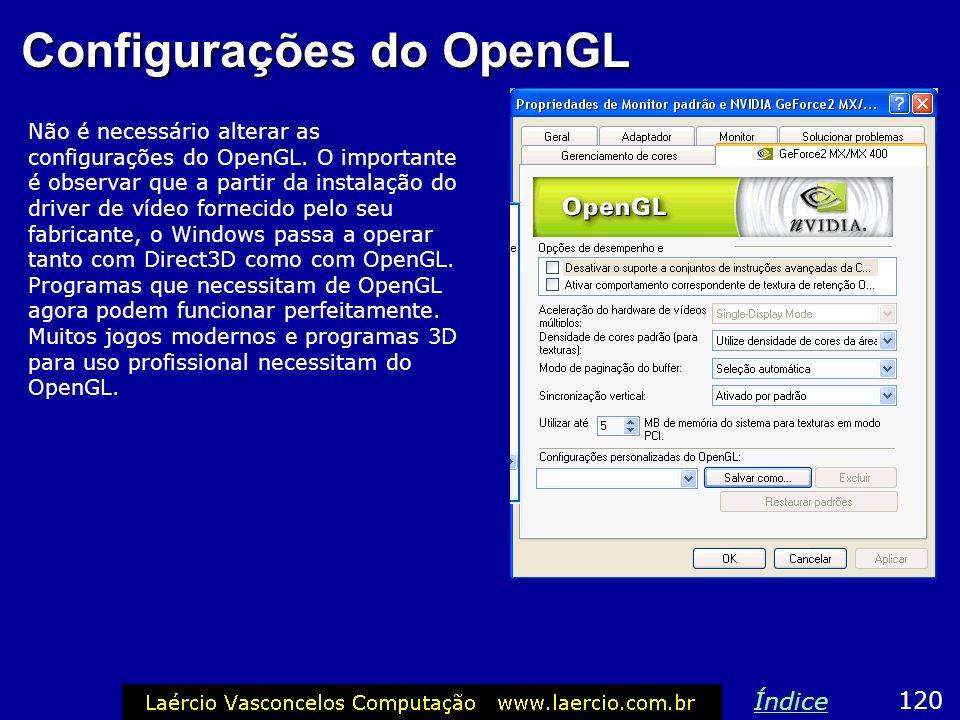 Configurações do OpenGL