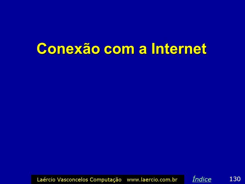 Conexão com a Internet Índice 130