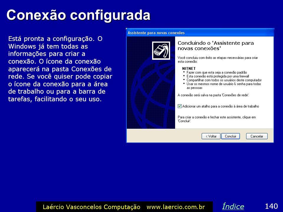 Conexão configurada Índice 140