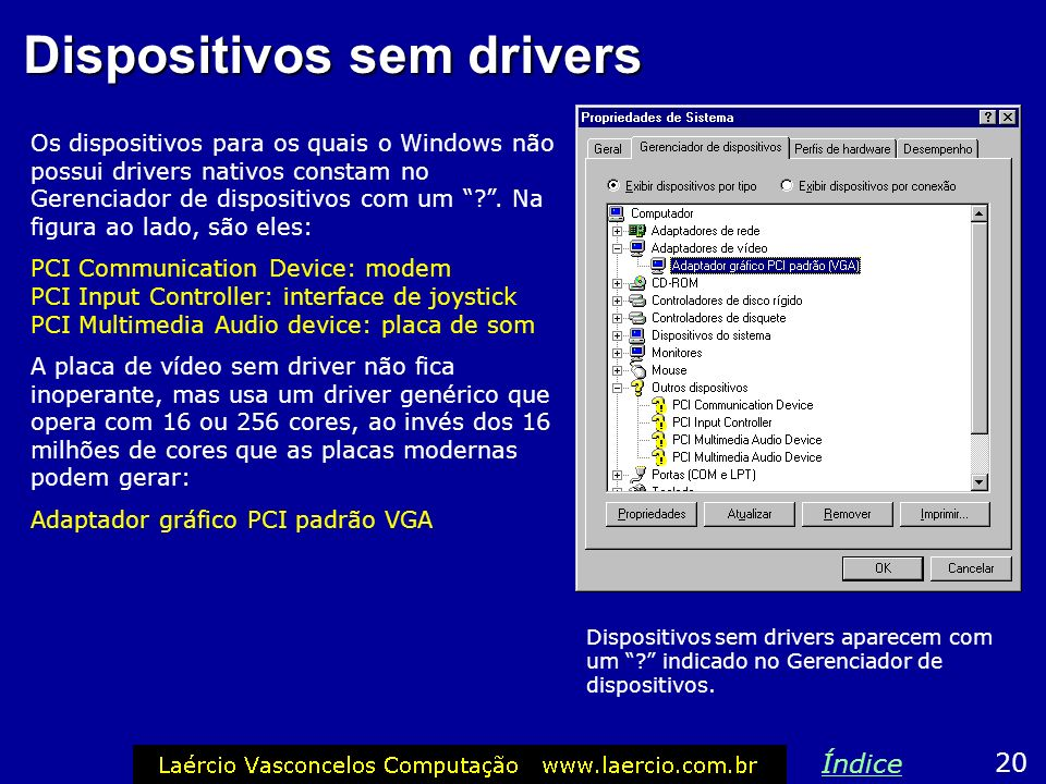 Dispositivos sem drivers