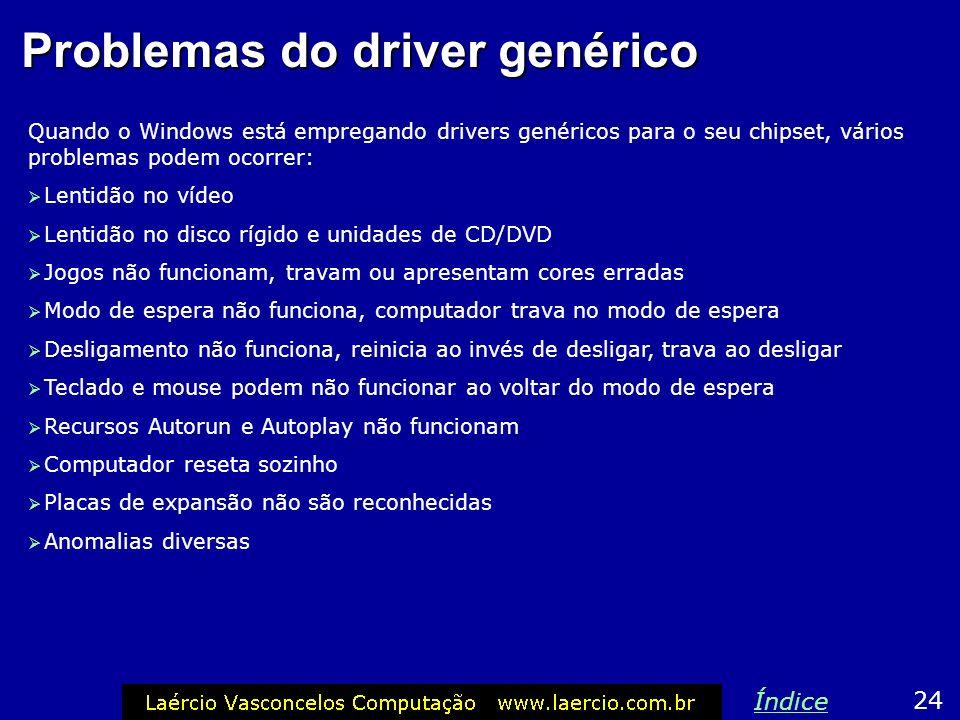 Problemas do driver genérico