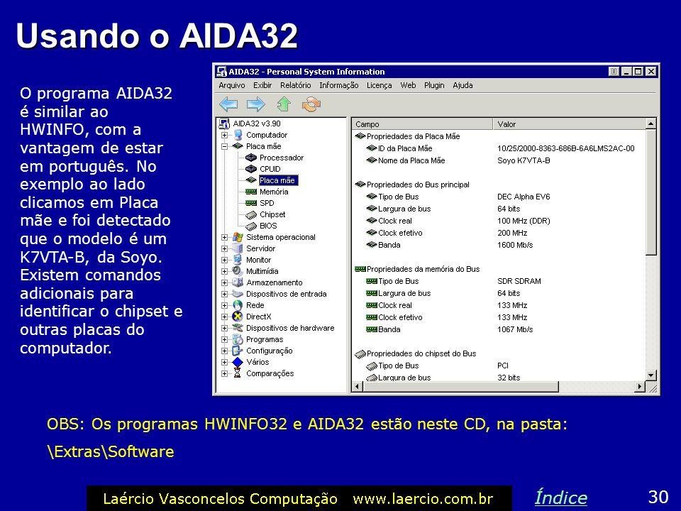 Usando o AIDA32