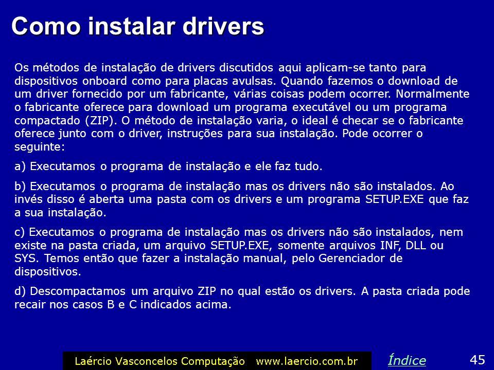 Como instalar drivers Índice 45