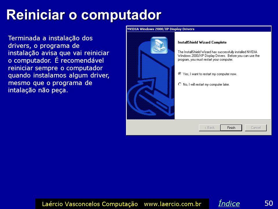 Reiniciar o computador
