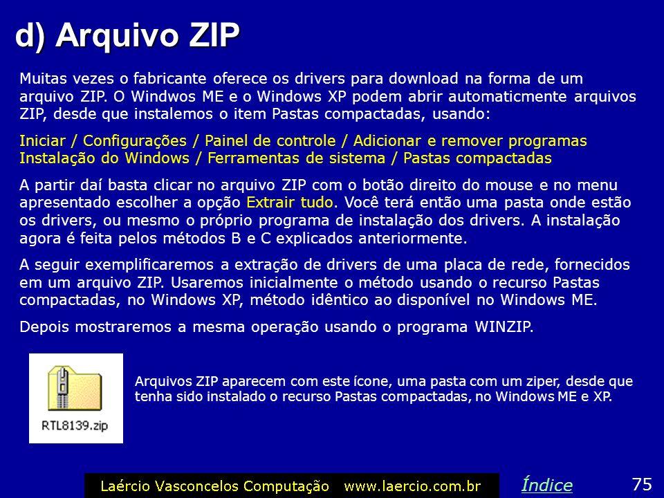 d) Arquivo ZIP