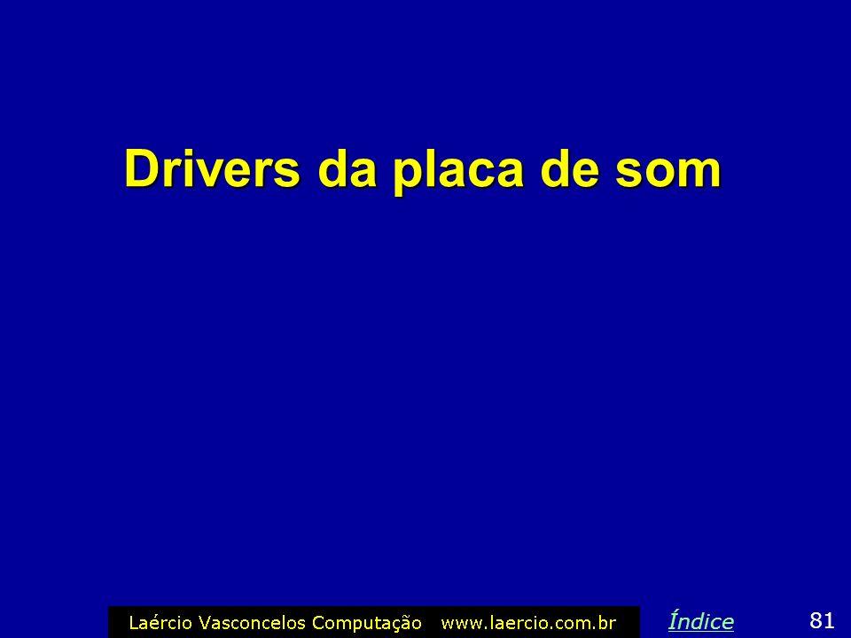 Drivers da placa de som Índice 81