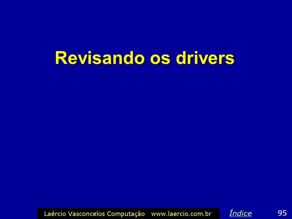 Revisando os drivers Índice 95