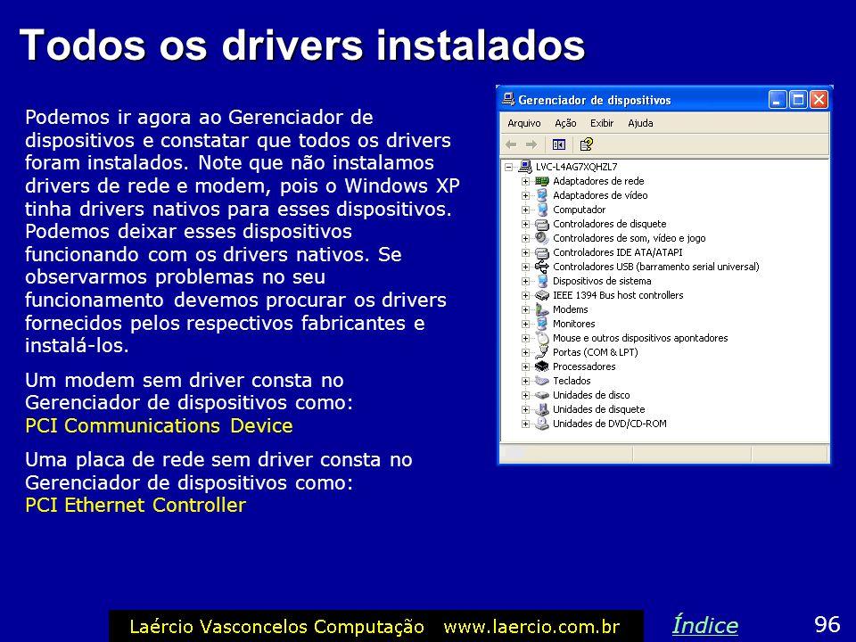Todos os drivers instalados