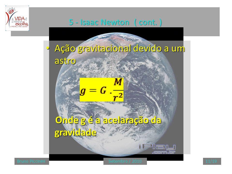 Ação gravitacional devido a um astro