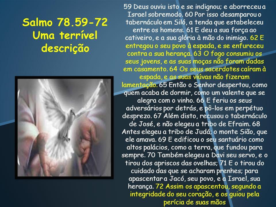 Salmo 78.59-72 Uma terrível descrição