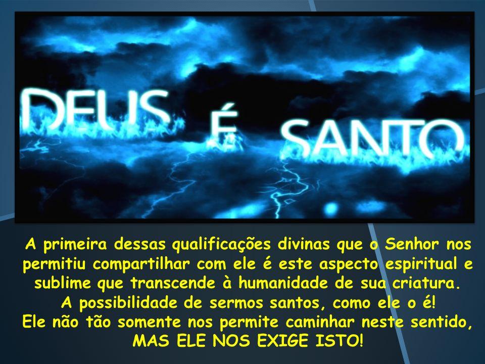 A possibilidade de sermos santos, como ele o é!