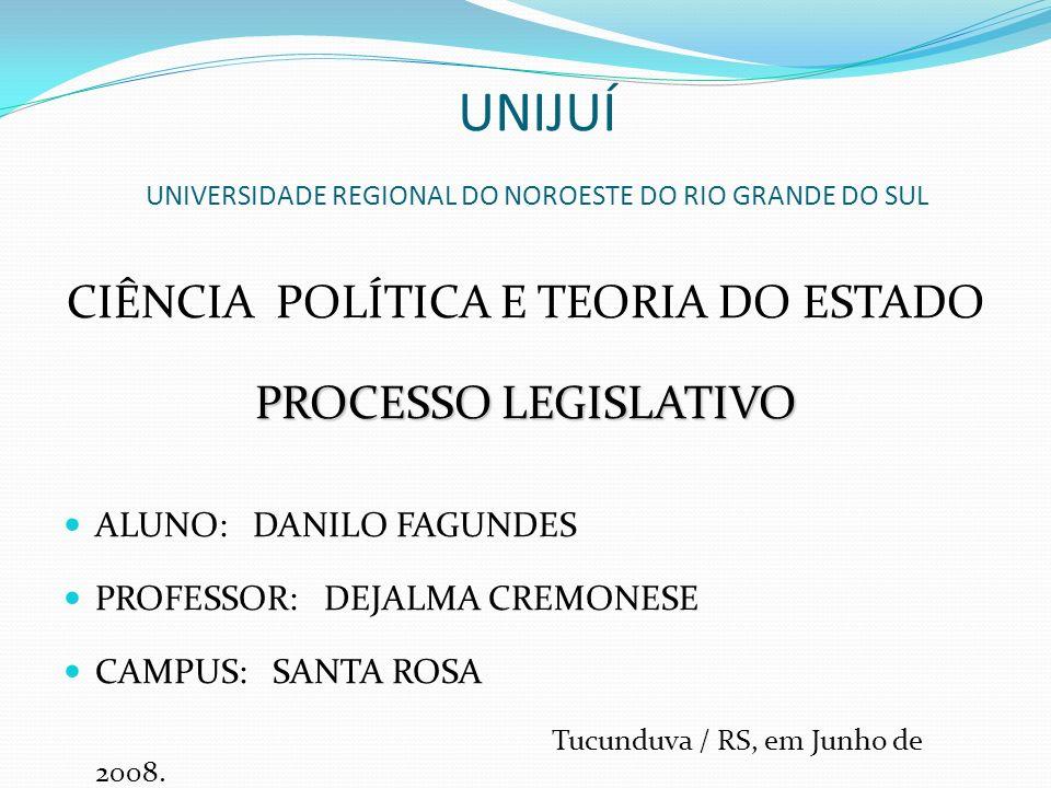 UNIJUÍ UNIVERSIDADE REGIONAL DO NOROESTE DO RIO GRANDE DO SUL