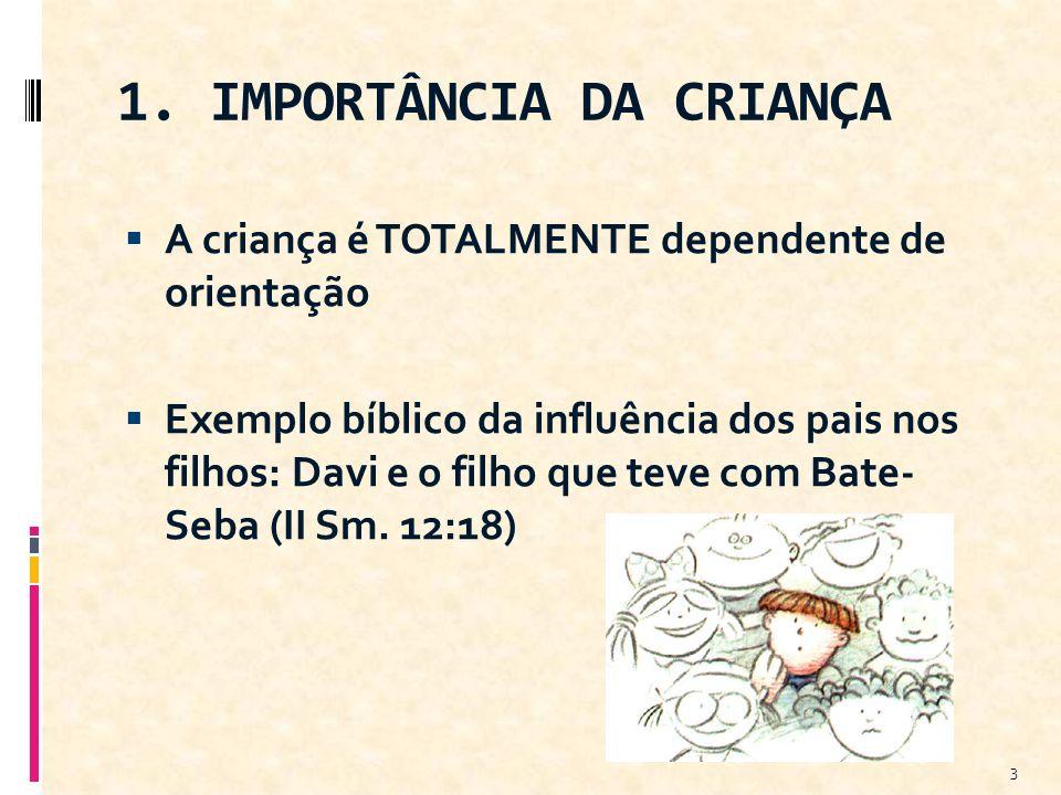 1. IMPORTÂNCIA DA CRIANÇA