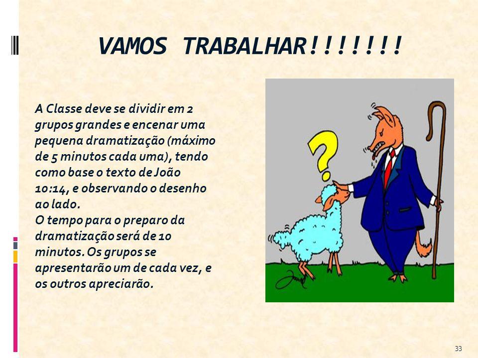 VAMOS TRABALHAR!!!!!!!