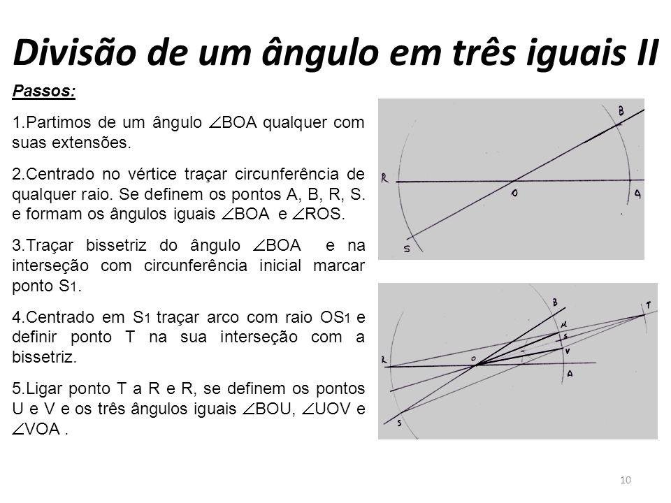 Divisão de um ângulo em três iguais II