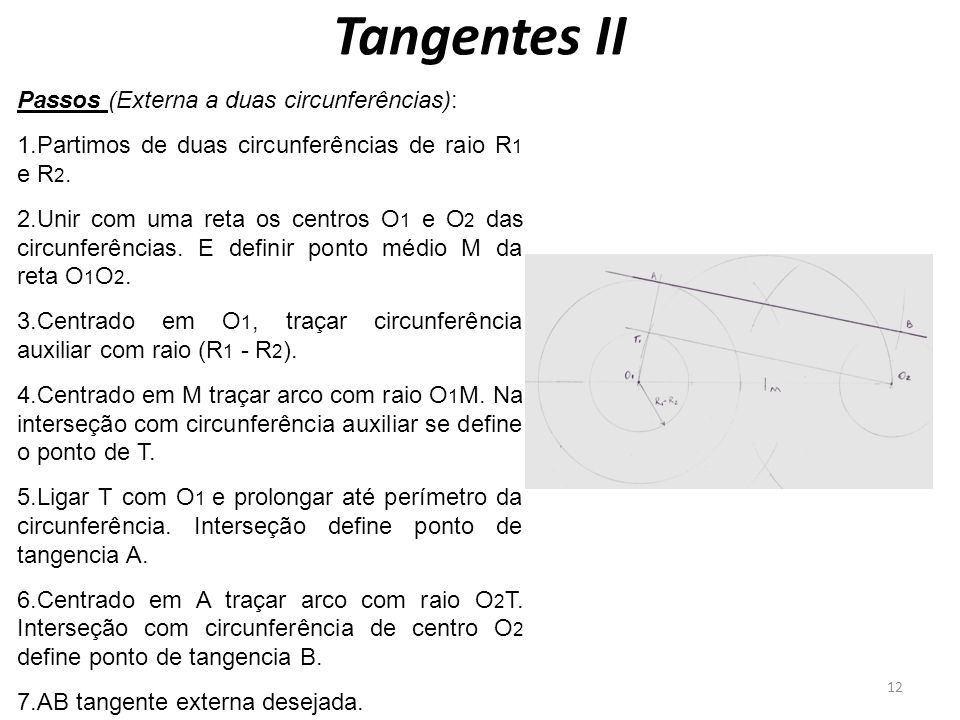 Tangentes II Passos (Externa a duas circunferências):