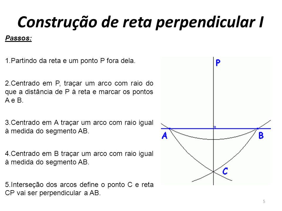 Construção de reta perpendicular I