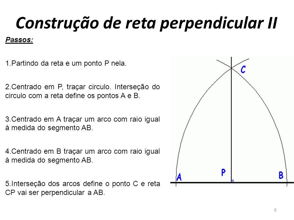 Construção de reta perpendicular II