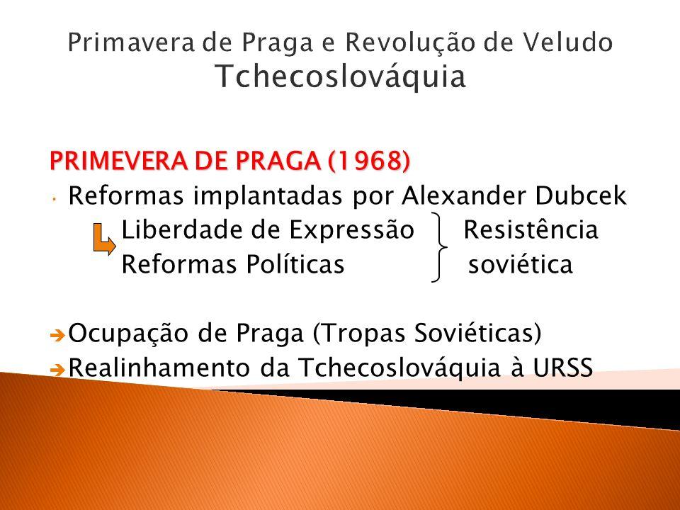 Primavera de Praga e Revolução de Veludo Tchecoslováquia