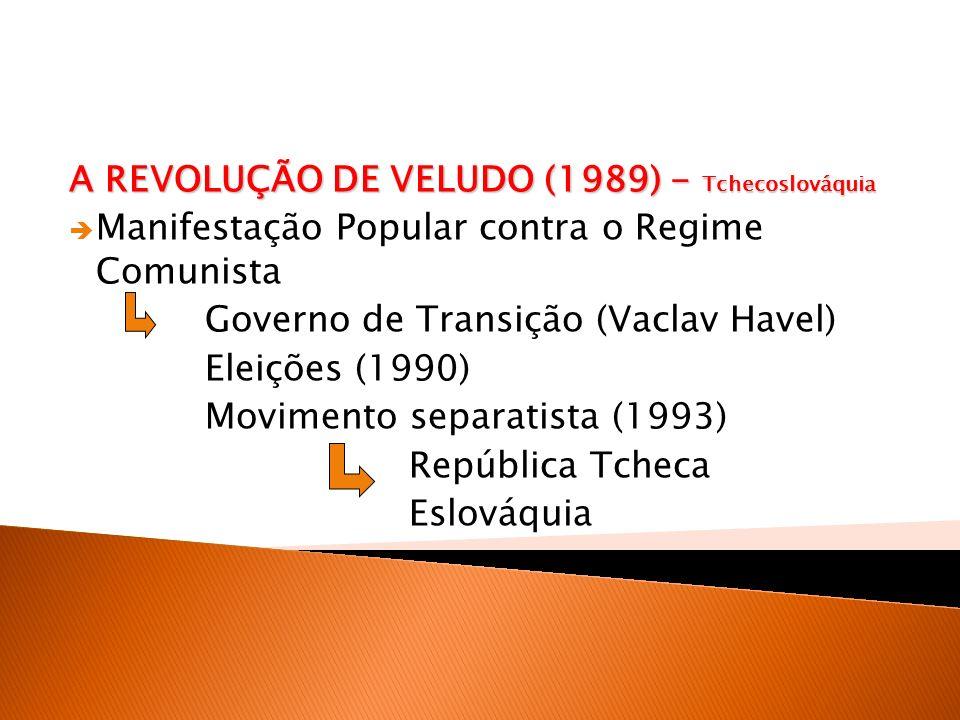 A REVOLUÇÃO DE VELUDO (1989) - Tchecoslováquia