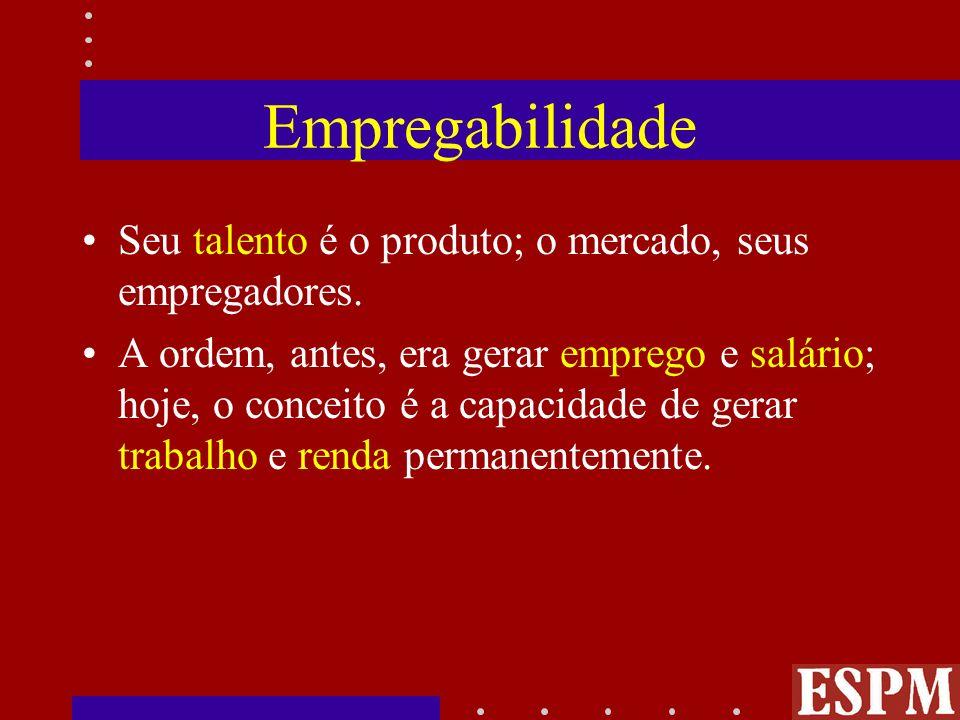 Empregabilidade Seu talento é o produto; o mercado, seus empregadores.