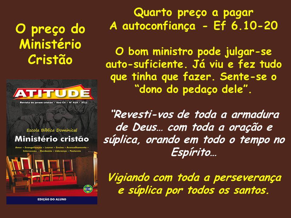 O preço do Ministério Cristão