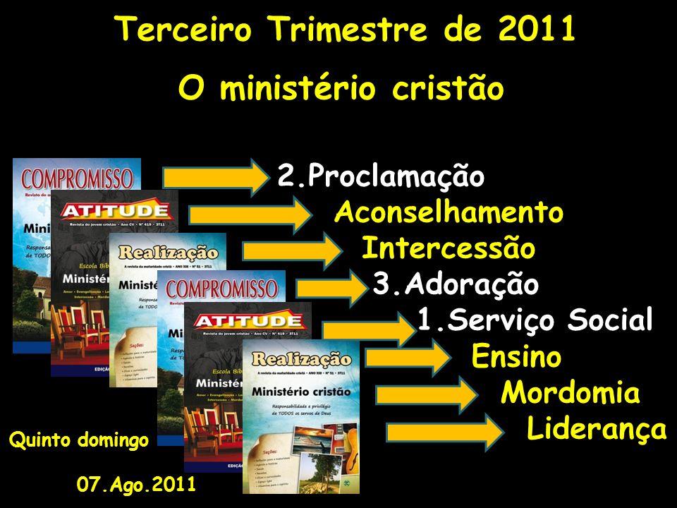 O ministério cristão 2.Proclamação Aconselhamento Intercessão