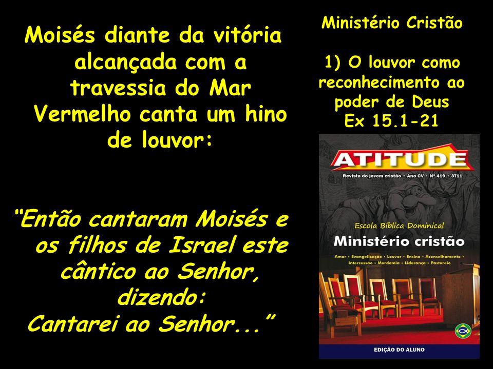 Ministério CristãoO louvor como. reconhecimento ao. poder de Deus. Ex 15.1-21.