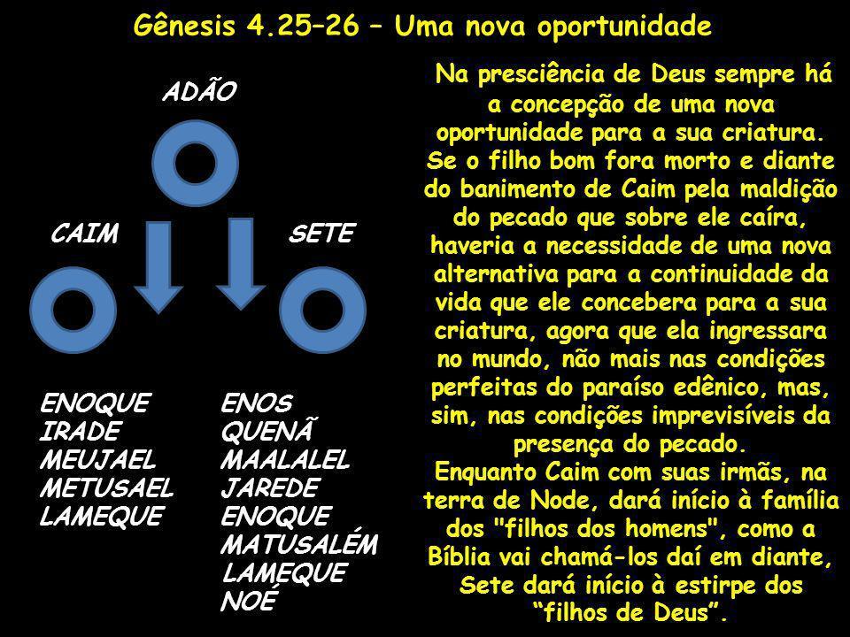 Gênesis 4.25–26 – Uma nova oportunidade