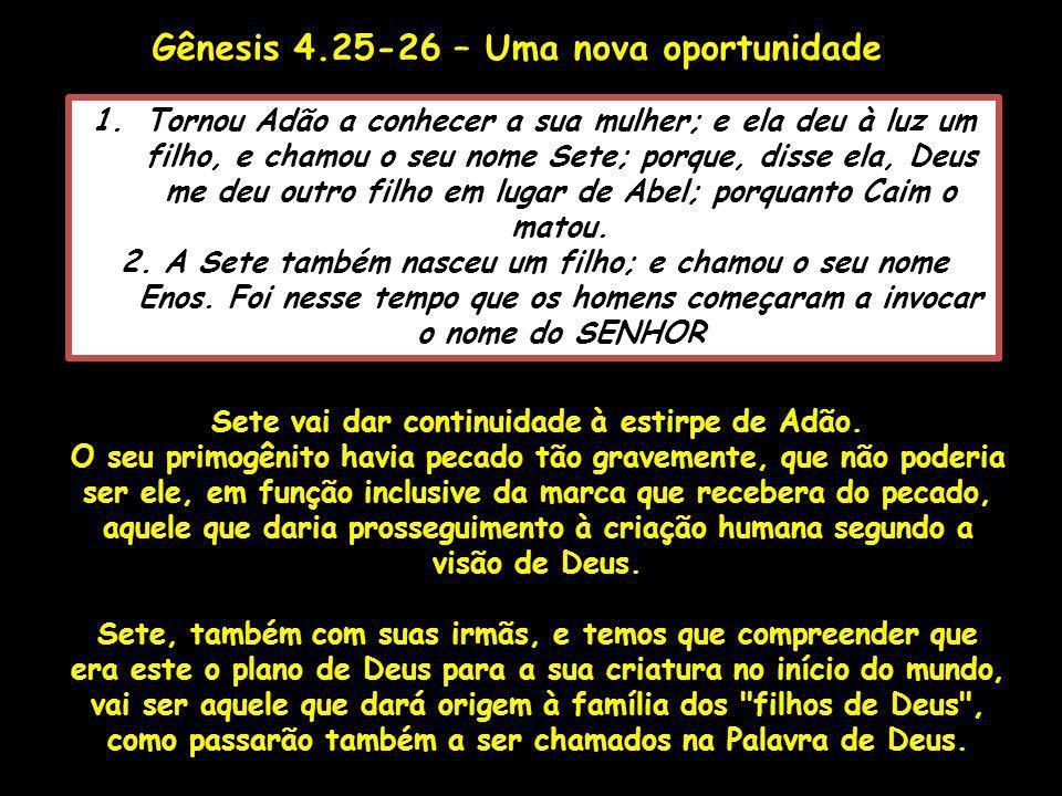 Gênesis 4.25-26 – Uma nova oportunidade