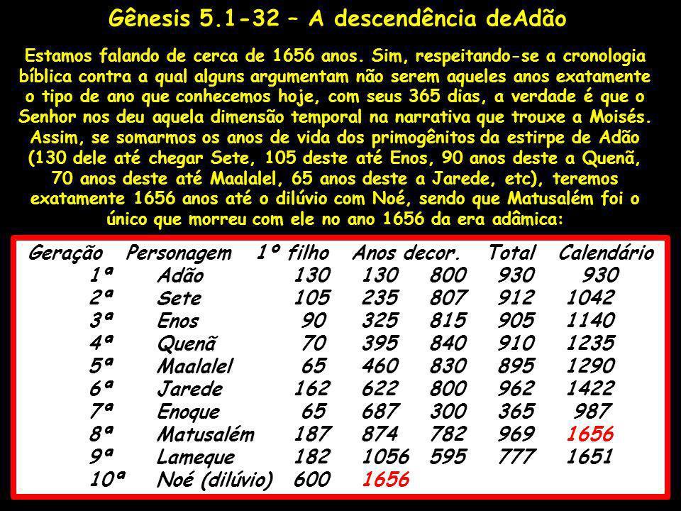 Gênesis 5.1-32 – A descendência deAdão