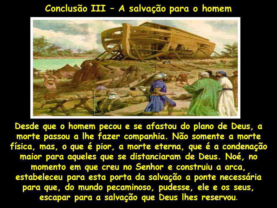 Conclusão III – A salvação para o homem