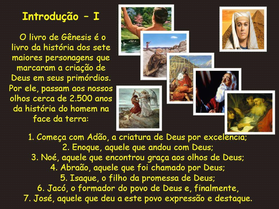 Introdução – I 1. Começa com Adão, a criatura de Deus por excelência;