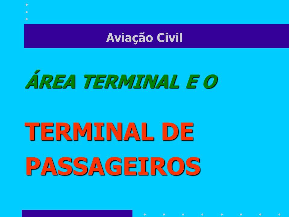 Aviação Civil ÁREA TERMINAL E O TERMINAL DE PASSAGEIROS